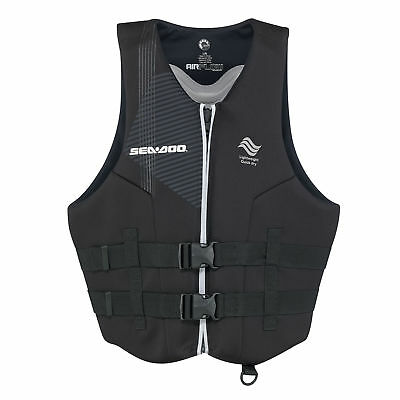 Sea-Doo Men's Ecoprene Airflow PFD -Life Jacket  Vest - Black