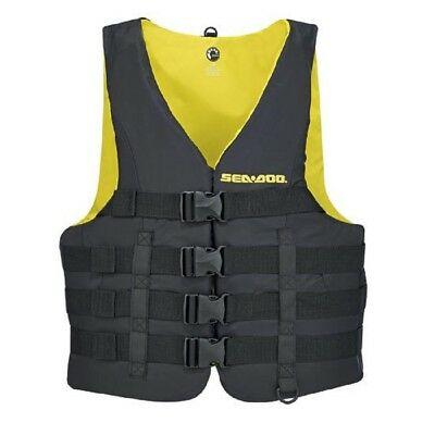 Sea-Doo Men's Nylon Motion PFD - Life Jacket Vest -  Black