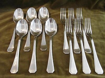 french silverplate 6 dinner forks 6 soup spoons Christofle America