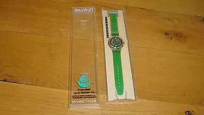Swatch watch Swiss made SAK102 In Our Hands Earth Summit 92 NIB automatic runs!