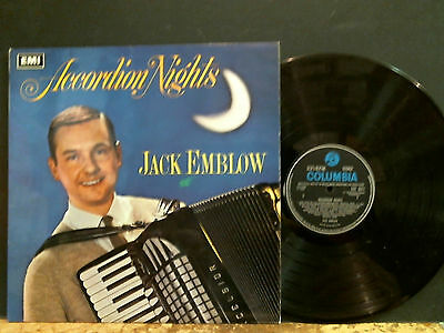 JACK EMBLOW  Accordion Nights  LP   UK Stereo   Easy  Jazz     Lovely copy!