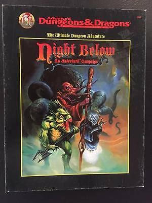 Night Below: An Underdark Campaign Advanced Dungeons And Dragons