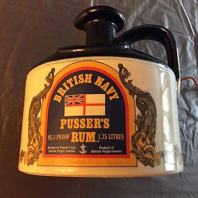 BRITISH NAVY PUSSER'S RUM VINTAGE JUG DECANTER * 1.75 LITERS * EMPTY with TAGS *