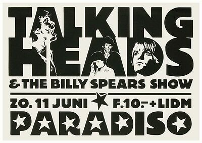 Talking Heads POSTER Live in Amsterdam 1977  David Byrne Tina Weymouth HOLLAND