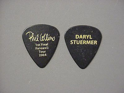Phil Collins guitar pick 2004 Daryl Stuermer black 1st Farewell Tour !