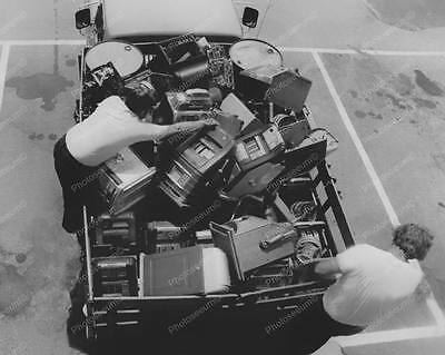 """Truck Carrying Confiscated Slot Machines   8"""" - 10"""" B&W Photo Reprint"""