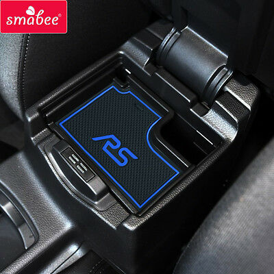 smabeeCar Gate slot mats For FORD 2015 Focus RS Non-slip Red/Blue/luminous 17PCS