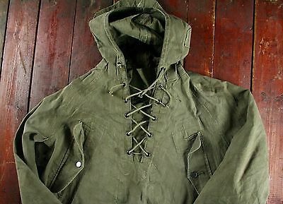 WWII WW2 US NAVY WET FOUL WEATHER PULLOVER DECK SMOCK PARKA JACKET 40s USN M/L