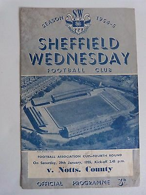 1954/55 Sheffield Wednesday V Notts County - Fa Cup 4Th Round