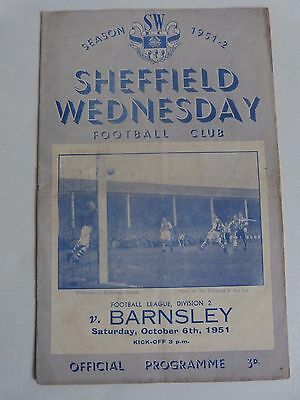 1951/52 Sheffield Wednesday (D2 Champions) V Barnsley - Division Two