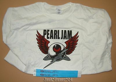 Pearl Jam 2014 Lightening Bolt Flying Eyeball European Tour Shirt Wristbands