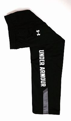Boys Youth Under Armour Brawler 2.0 Pants Black/Gray/White Large (YLG) Lined