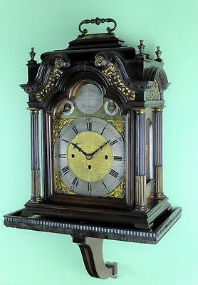 Magnificent Bracket Clock Triple Fusee 8 Bells