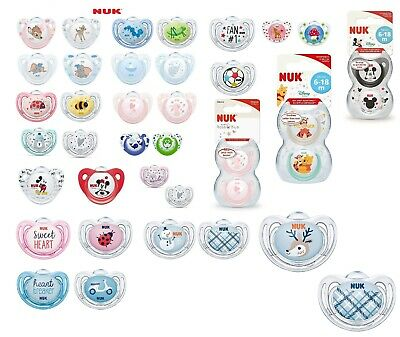 Nuk All Design Soothers/Dummies Are Available (Latex / Silicone) Size 2 (6-18m)