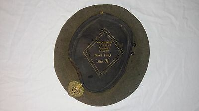 WW2 WWII Canadian Beret Royal Canadian Engineers 7 1/4 1945