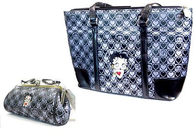 Betty Boop Carry Bag and Purse - Black