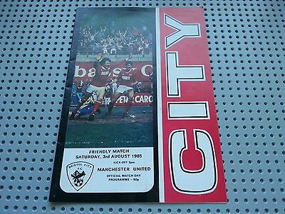 BRISTOL CITY  V MANCHESTER UNITED - 3rd AUGUST 1985 - PRE-SEASON PROGRAMME