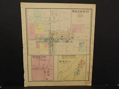 Ohio Ashland County Map Hayesville McKay McZena 1874   L9#27