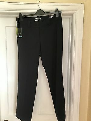 Nike Stunning Black Modern Rise Dri Fit Tour Performance Golf Trousers Bnwt 8