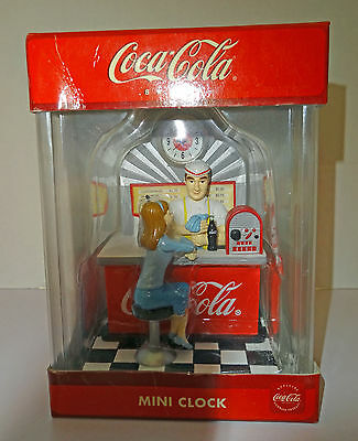 Coca Cola Mini Clock 50's Diner coke