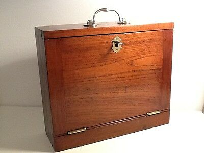 Edwardian Mahogony Decanter Travel Box