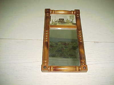 Hamilton O. Cornwall & Co Boston Mass. Vintage Mirror Wood Frame Decorative