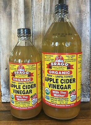 Bragg 473ml 946ml Organic Raw Apple Cider Vinegar Mother Choose Either And Free