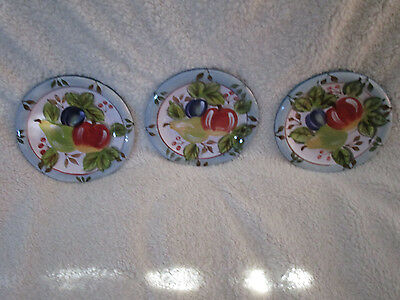Three Black Forest Fruits Salad/Dessert plates