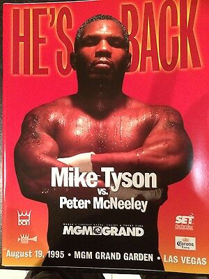 boxing programmes.  IRON MIKE TYSON COMEBACK FIGHT 1995    Collectors Item