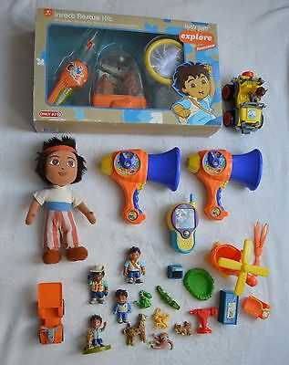 GO DIEGO GO!  Nickelodeon Toy Lot Insect Rescue Kit 2 Mega Phones Walkie Talkie