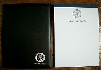 George W. Bush White House Presidential Seal Portfolio - With Air Force One Pad