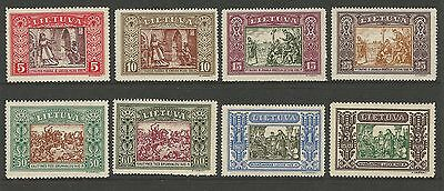 Lithuania Litauen 1932 MH Mi 332-339 Sc 264-271 IInd Child  issue perforated