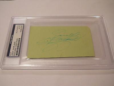 Judy Garland Signed Cut Signature Psa/dna Authentic Auto The Wizard Of Oz