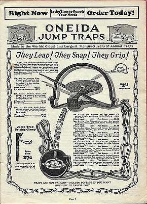 1931 Print Ad for ONEIDA JUMP TRAPS ~ THEY LEAP! THEY SNAP! THEY GRIP!
