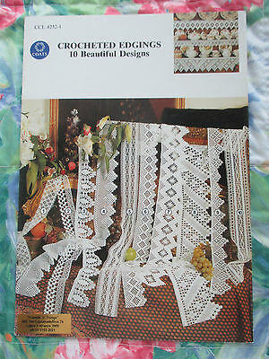 CROCHETED EDGINGS 10 BEAUTIFUL DESIGNS PATTERN BOOK #4232-1 By COATS
