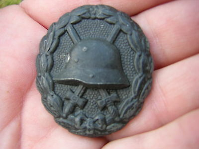 Scarce Original World War 1 WW1 German Military Wound Badge, 3rd Class - NICE!