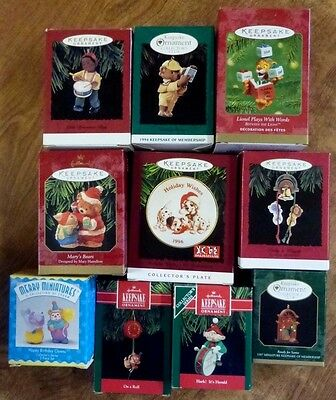 Lot of 10 HALLMARK Keepsake Ornaments in Boxes  New & Used Christmas #11