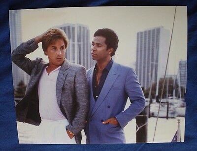 Don Johnson Philip Michael Thomas Miami Vice Collector's Item  8x10 Photo Color