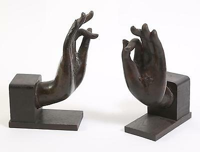 Pair Thai Thailand Bronze Hands of Buddha w/ 1965 export seal  ca. 18-19th C