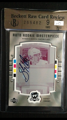 1/1 Sidney Crosby 2005 05 06 The Cup Rookie Auto Plate Of The Best Rc Card/ 99