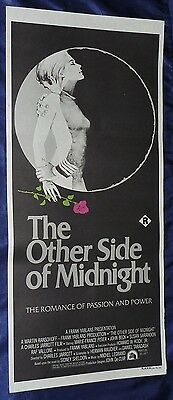 THE OTHER SIDE OF MIDNIGHT (R) Susan SARANDON Australian Daybill Poster 13x30