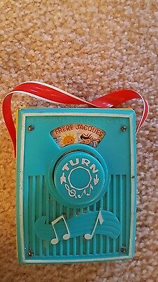 Vintage 1966 Fisher Price Toy Music Box Pocket Radio Frere Jacques