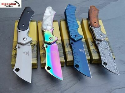ASSORTED TACTICAL Spring Assisted Open Pocket Knife SET RAZOR CLEAVER FOLDING