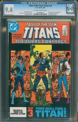 DC Comics Tales of the Teen Titans 44 CGC 9.4! First Nightwing! White Pages!