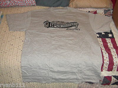 Brew Masters Discovery Channel Gray Adult Large Hanes Tshirt With Koozie Coaster