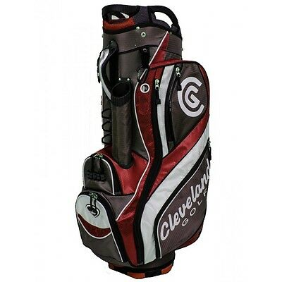 Cleveland 15 Cart Golf Bag - Red/charcoal/white - New In Box - Value Plus!