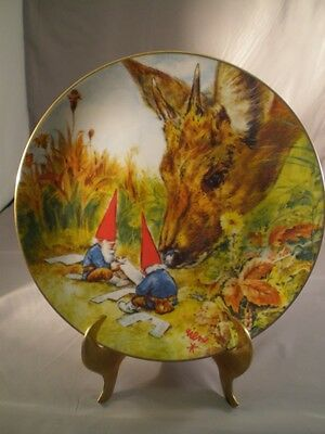 Rien Poortvliet Gnome Made Gnomes Four Seasons Autumn Porcelain Collector Plate