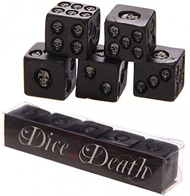 Puckator SK200 Set of 5 Six Sided Die With Inlaid Skulls Game Toy Accessories