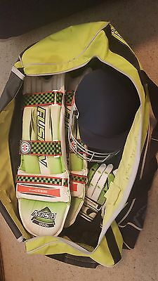 Cricket Bag + Pads + Gloves + Helmet