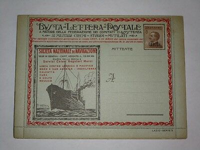 1922-23  Italy BLP B.L.P. (Busta Lettera Postale) advertisement c.40 (II type)